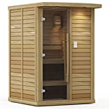 Goldstar 1000-B Prebuilt Traditional Sauna w/ Canopy & Lights