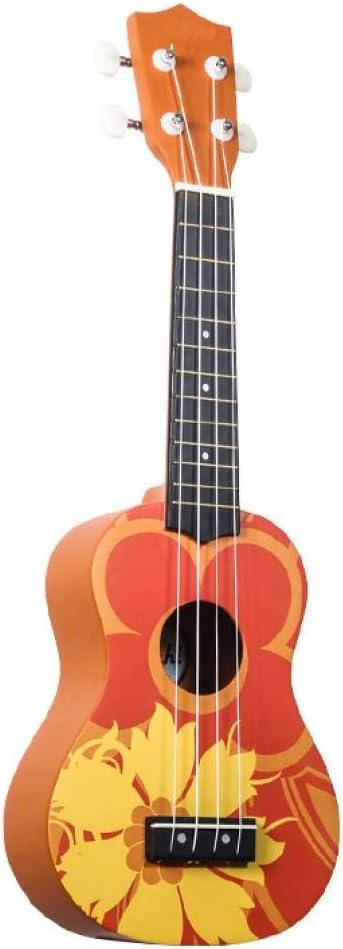 QLJ08 21 pulgadas ukelele soprano rojo colorido flor de dibujos ...