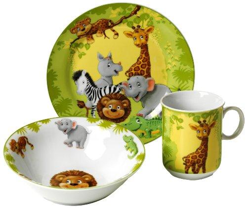 Ritzenhoff & Breker 006940 Kindergeschirr Set Dschungeltiere, 3-teilig