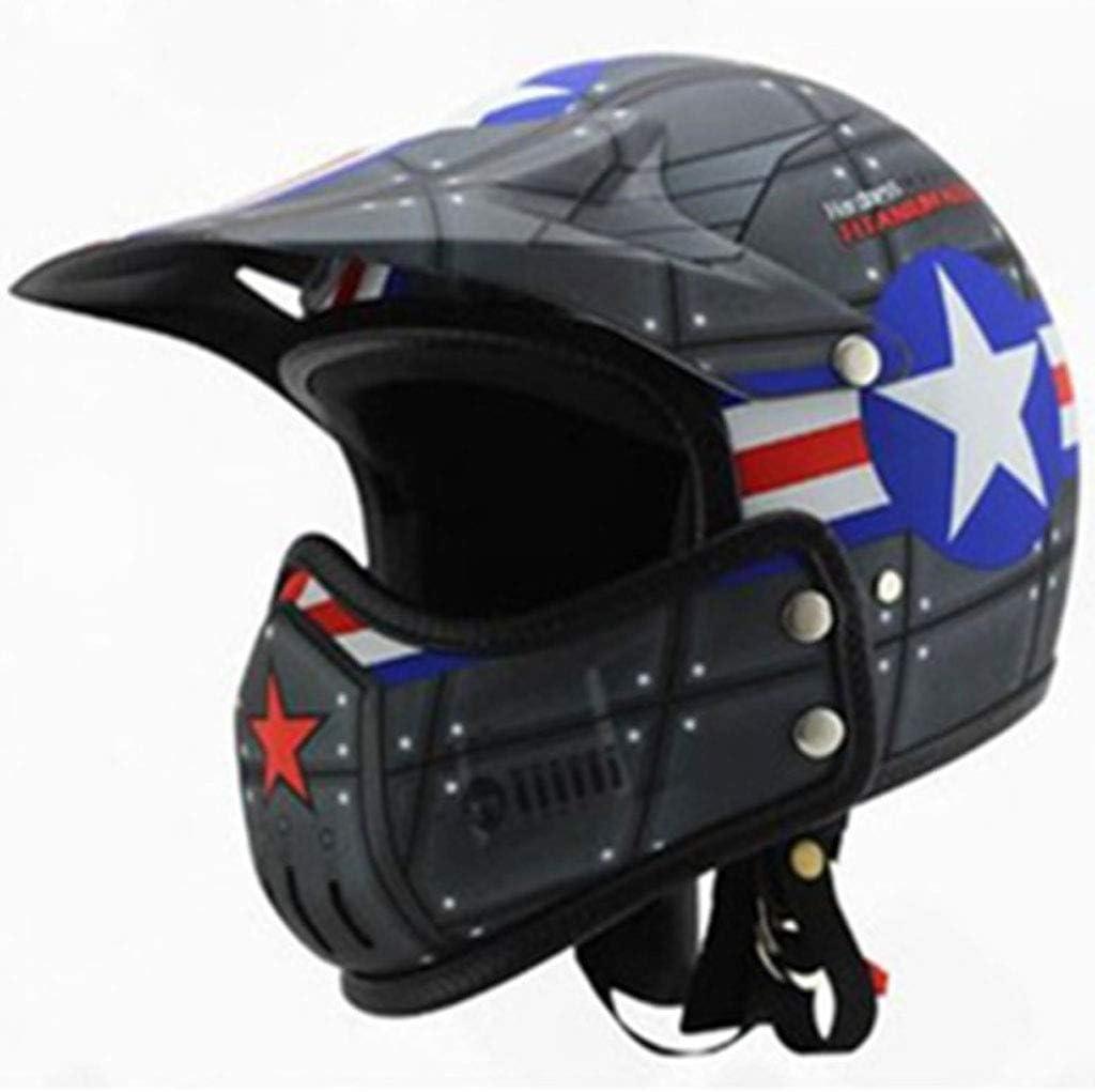 男性レトロなハーフヘルメットハーレーのオートバイのヘルメットの男性と女性の性格涼しいオフロードの機関車の組み合わせフルフェイスのヘルメット女性の四季 (色 : Sub-gray, サイズ さいず : XL) Sub-gray X-Large