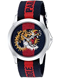 Quartz Stainless Steel and Nylon Casual Two-Tone Men's Watch(Model: YA126495)