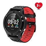 Smart watch,Sports Watch with Altimeter/ Barometer/Thermometer and Built-in GPS,Fitness Tracker for Running,Hiking and Climbing ,IP67 Waterproof Heart Rate Monitor for Men, Women and Adventurer (Red)