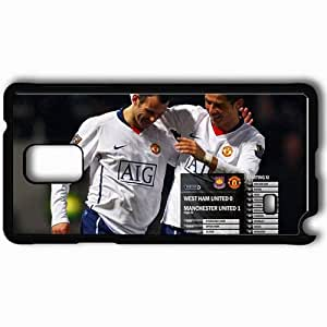 Personalized Samsung Note 4 Cell phone Case/Cover Skin 25 Manchester United Football Black