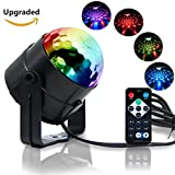Reching Disco Light Crystal Magic Rotating Ball Party Effect LED Stage Lights with Multi-Colors,3W RGB Disco Lights for KTV Lighting,X'mas Party,Wedding Show,Club Pub Disco DJ Lighting(Upgrade)