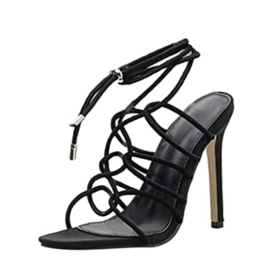 f1282f38299 Women High Heels Sandals, Summer Cut Out Lace-up Criss Cross Ankle ...