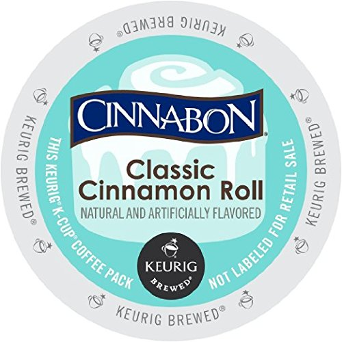 Cinnabon K-Cup Portion Pack for Keurig Brewers, Classic Cinnamon Roll, 120 (120 Capsules Roll)