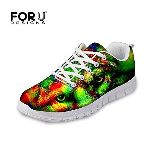 Pour Les Conceptions De Mode Tigre Imprimé Léopard Hommes Et Femmes Léger Running Sneaker Loup