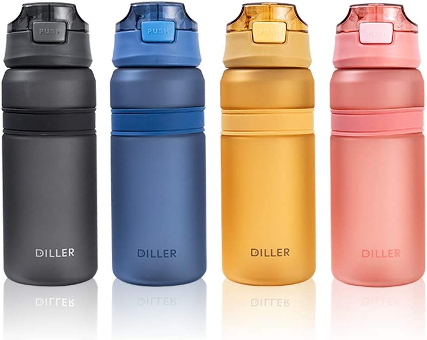 DILLER  Outdoor Sports Water Bottles Leak-Proof Cycling Travel Hiking Cups 700ML