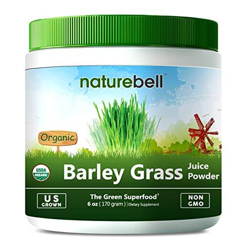 U.S Grown USDA Organic Barley Grass Juice Powder, 6 Ounce, Rich Fiber, Minerals, Vitamins, Antioxidants and Chlorophyll, Non-GMO and Vegan Friendly. For Sale