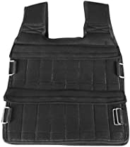 Weighted Vest 11lbs/33lbs/77lbs Adjustable Weights Jacket Breathable Shockproof Weightloading Vest with Multi