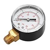 Hitommy 1/4 Inch Air Compressor Pressure Gauge Npt Thread Manometer Gauge 0-4 Bar 0-60 Psi