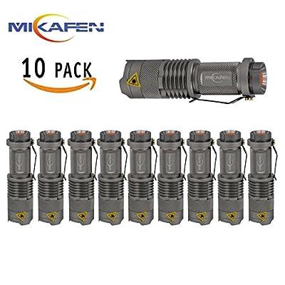 10pcs Mikafen 3 Mode Mini Cree Q5 LED Flashlight Torch 300lm Zoomable Lamp Light