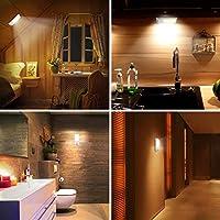 Luz Noche, OMERIL Luz LED Armario Recargable USB con Sensor de Movimiento, 12LED Luz Nocturna con 3 Modos (AUTO/ON/OFF), Luz Cálida para Pasillo, Escalera, Cocina, Baño, Garaje, Gabinete y Sótano: Amazon.es: Hogar