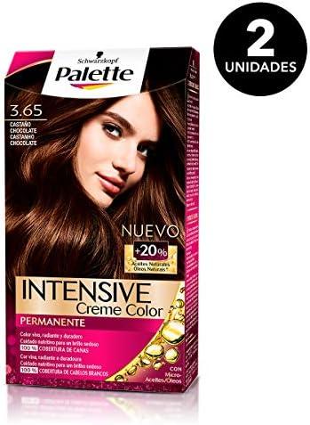 Palette Intense - Tono 3.65 Castaño Medio Chocolate - 2 uds ...