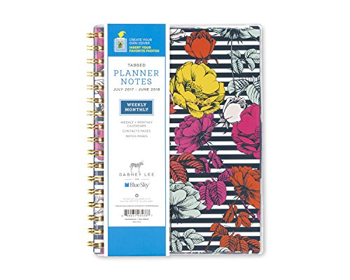 "Dabney Lee for Blue Sky 2017-2018 Academic Year Weekly & Monthly Planner with Notes, Twin-Wire Bound, 5.8"" x 6.2"", Millie"