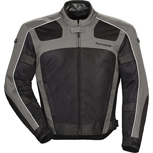 Tour Master Draft Air Series 3 Men's Textile Sports Bike Racing Motorcycle Jacket - Grey/Black / Large by - Bike Textile