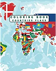 countries flags Coloring Book: A great book for playing and learning about Alphabet Countries Flags(Cute Coloring Books)