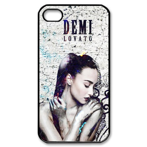 Fayruz- Demi Lovato Protective Hard TPU Rubber Cover Case for iPhone 4 / 4S Phone Cases A-i4K65