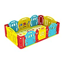 Dwinguler Baby Castle Play Room / Kids Playpen - Rainbow