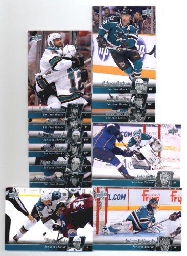 Joe Thornton Nhl - 2010-11 Upper Deck San Jose Sharks Veteran Team Set- 12 NHL Trading Cards Including - Joe Thornton, Dany Heatley, Joe Pavelski, Patrick Marleau, Antti Niemi, Logan Couture and more!