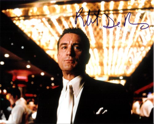 Robert Deniro in Casino Autographed Signed 8 X 10 Reprint Photo - Mint Condition