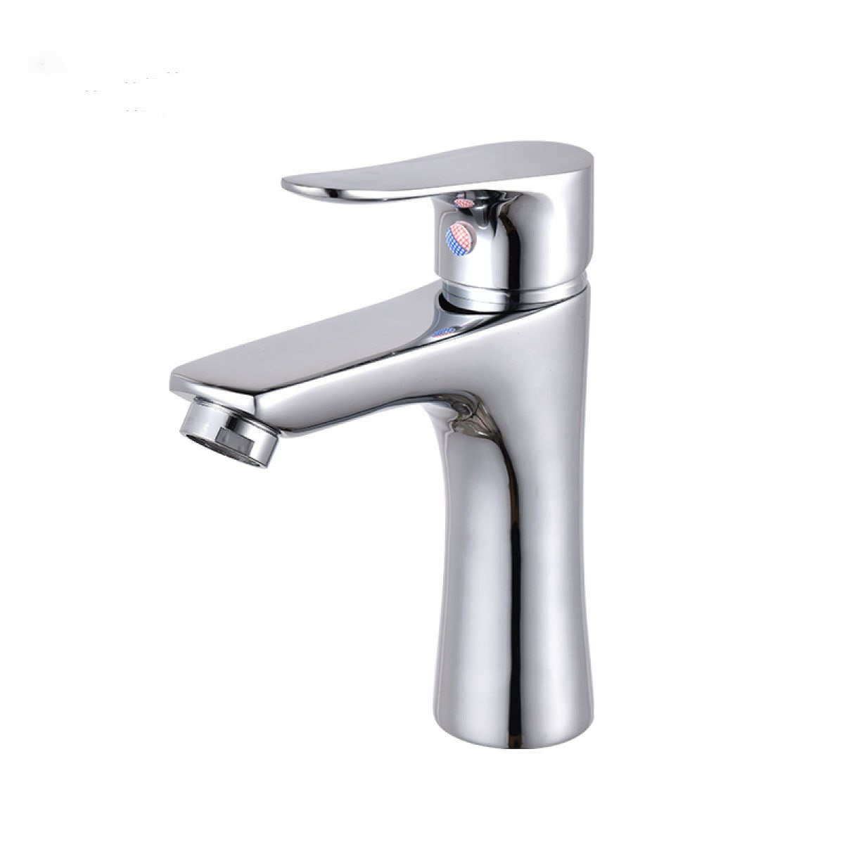 LDONGSH Basin Single Hole Copper Hot And Cold Electroplating Drawing Faucet Tap
