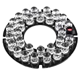 "uxcell 2 1/8"" Round Board 24 IR LED Lamp for CCTV Security Camera"
