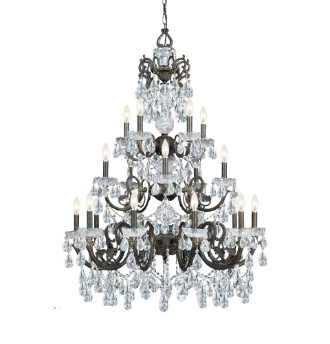 Crystorama 5190-EB-CL-MWP Crystal 20 Light Chandelier from Legacy collection in Bronze/Darkfinish, Review