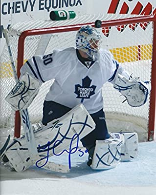Autographed Jonas Gustavsson 8x10 Toronto Maple Leafs Photo