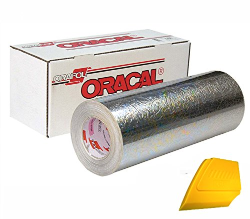 ORACAL. Silver Holographic Chrome Cast Adhesive Craft Vinyl 12