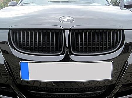 Kühler Sport Front Rippen Grill Schwarz Matt Eintragungsfrei Set Auto