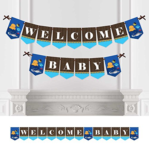 Sea Critters (Under The Sea Critters - Baby Shower Bunting Banner - Sea Party Decorations - Welcome Baby)