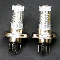QUIOSS Set of 2 80W LED Headlight Bulbs Super White For Yamaha Snowmobile Apex Bravo Nytro