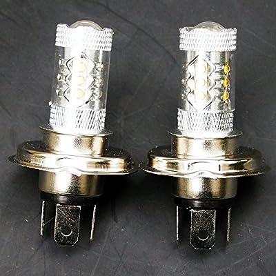 QUIOSS Set of 2 80W LED Headlight Bulbs Super White For Yamaha Snowmobile Apex Bravo Nytro