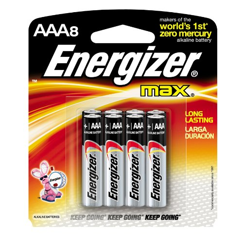 Energizer 8-Pack AAA Alkaline Batteries E92SMP8T