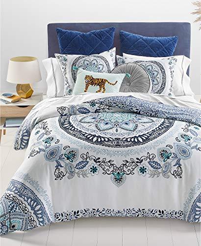 Martha Stewart Whim Collection Traveler Medallion 3- Piece Full/Queen Blue Comforter ()