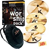 Zildjian KC0801W Worship Pack Cymbal Set Bundle with Gig Bag, Polishing Cloth