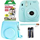 Fujifilm Instax Mini 9 - Ice Blue Instant Camera, Fujifilm Instax Mini Airmail