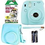 Fujifilm Instax Mini 9 - Ice Blue Instant Camera, Fujifilm Instax Mini Airmail