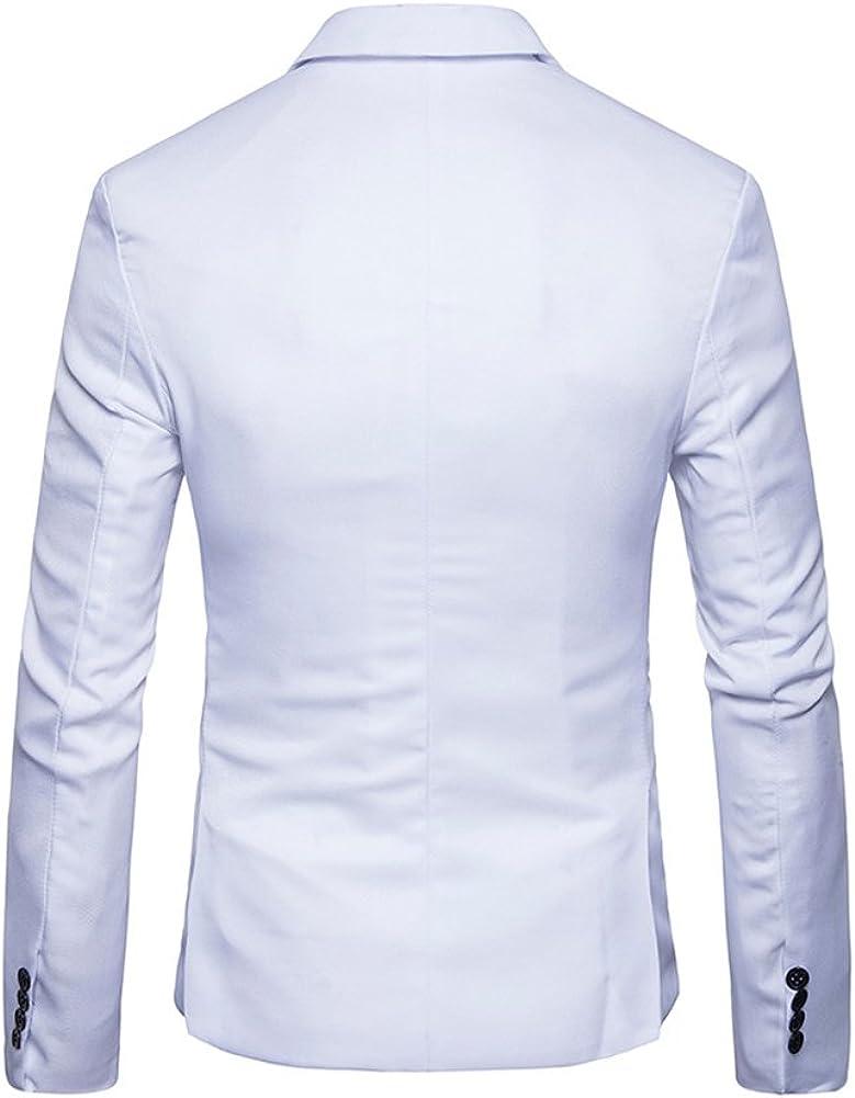 PengGeng Herren EIN Knopf Anzugjacke Freizeit Jacket Slim Fit Sakko Blazer