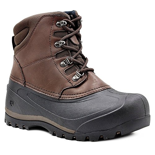 Northside Men's Freestone Snow Boot, Dark Brown, 11 M (Dark Brown Waterproof Insulated Boot)