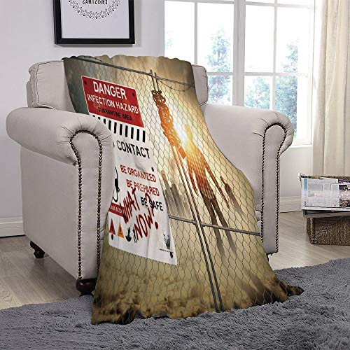 YOLIYANA Light Weight Fleece Throw Blanket/Zombie Decor,Dead for sale  Delivered anywhere in Canada