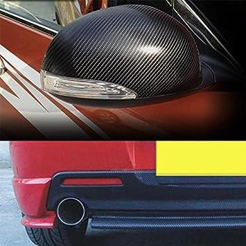 RenxinU Auto Adesivo in Fibra di Carbonio 3D Impermeabile DIY Adesivo in Vinile Decorativo 127 cm x 30 cm Nero