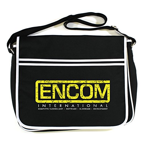 Black Bag Messenger Retro Tron Encom xfnqvqI0z