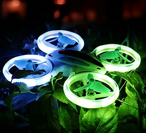 Upgraded Voyager Mini LED Stunt Drone – Fly Indoor/Outdoor – 3 Speed Modes (H, M, L) – 360 Flip Button – Headless Mode – One Key Return – 15 Min Flight Time – LED Prop Guards - For Beginner To Pro