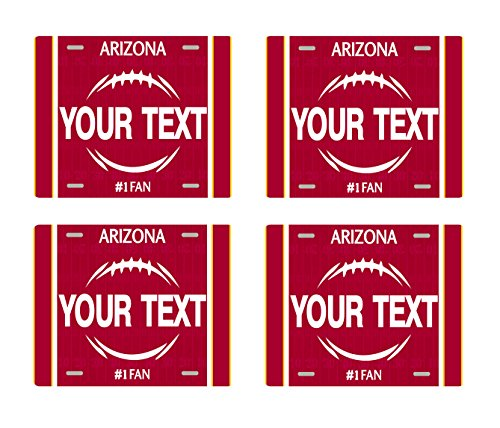 - BRGiftShop Customize Your Own Football Team Arizona Set of 4 Square Beverage Coasters