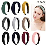 Jaciya 10 Pieces Knotted Headbands for Women