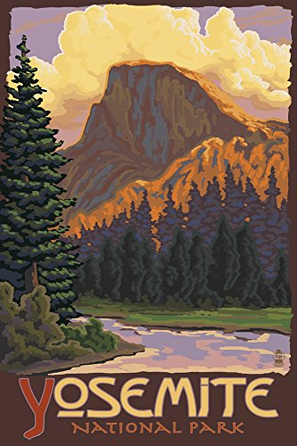 Yosemite National Park, California - Half Dome (12x18 Art Print, Wall Decor Travel - Park Dome National Yosemite Half