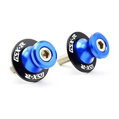 2Pcs 8MM Motorcycle CNC Swing Arm Stand Screws Sliders Spools For Suzuki GSXR 600 750 1000-Blue: Automotive