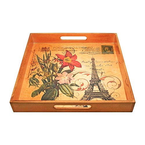 Amber Home Goods Paris Themed Square Tray